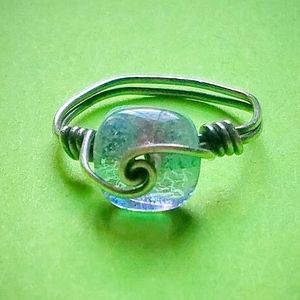 Ocean Wave Wire Wrapped Ring (Size 7)